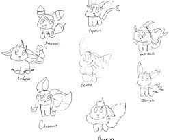 Small Picture Pokemon Coloring Pages Eevee Evolutions All olegandreevme