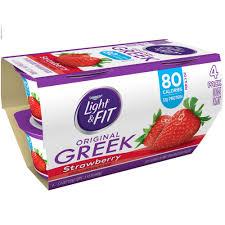 Yoplait Light And Fit Greek Yogurt Dannon Light And Fit Strawberry Flavored Greek Yogurt 4ct