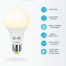 Hao Deng Lights Wifi Smart Multi Color E27 Led Light Bulb Dimmable For Amazon Alexa Google Iftt