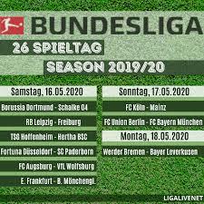 Alle daten, anstoßzeiten und ergebnisse für den relegation. Bundesliga Spielplan 2019 2020 26 Spieltag Ligalive