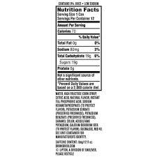 water high fructose corn syrup citric acid natural flavor instant tea phosphoric acid sodium hexametaphosp to protect flavor potium sorbate