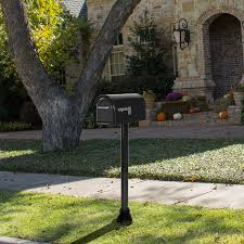 aluminum mailbox post. Shop PostMaster Black Aluminum Mailbox Post At Lowes.com