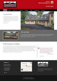 garrett s garage door web design development