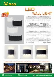 Outdoor Lighting Md Led Outdoor Wall Light Md Wl18902 Series Products Vmax