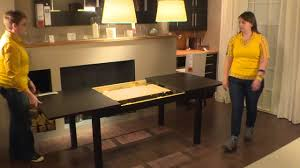 Measurements for coffee and dining table: Bjursta Table Ikea Home Tour Youtube