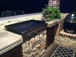 outdoor built in griddle designs grill with