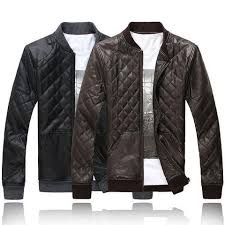 Mens Quilted Faux Leather Jacket – Mens Fashion Factory & Mens Quilted Faux Leather Jacket Adamdwight.com