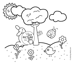 Preschool Spring Coloring Pages Dream Refrence Intended For 11