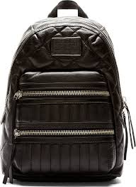 Marc by Marc Jacobs Black Quilted Leather Domo Biker Backpack ... & ... Marc by Marc Jacobs Black Quilted Leather Domo Biker Backpack ... Adamdwight.com