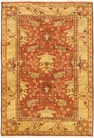 royal ushak orange wool rug hand knotted indian rug 6 2