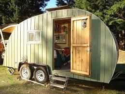 diy camper with cedar siding
