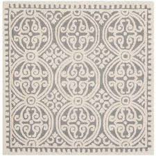 cambridge silver ivory 10 ft x 10 ft square area rug