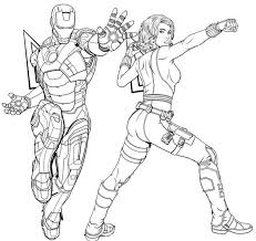 New iron man games for boys and kids will be added daily. Iron Man And Black Widow Coloring Page Of Avengers Endgame Avengers Coloring Marvel Coloring Avengers Characters