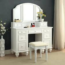 furniture of contemporary 2 piece multi drawer vanity table set desk setup