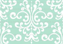damask lg mint green