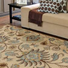 blue and brown rugs with circles area rug ideas