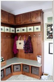Corner Cubby Bench Coat Rack