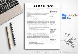 Google Docs Resume Template Amazing Resume Template Google Docs Resume Templates Creative Market