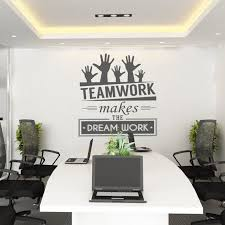 office decor pictures. Teamwork Makes The Dream Work - Office Wall Art Corporate Supplies Decor Pictures Y