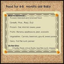 Food Chart For Babies Indian Baby Food Chart Infant