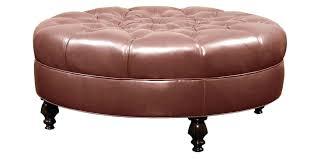 cream colored ottoman leather storage coffee table