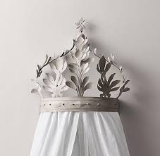 Enchanting Crown Bed Canopy and White Demilune Metal Canopy Bed ...