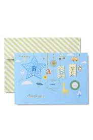 Baby Boy Thank You Cards Note Cards Thank You Cards By Gartner Studios
