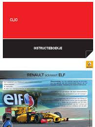 Handboek De Nieuwe Renault Clio Nederlands Seat Belt Traffic