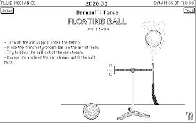 bernoulli equation fluid mechanics. bernoulli tubes (2c20.10) · floating ball (2c20.30) equation fluid mechanics