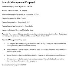Management Proposal Management Proposal Sample 2