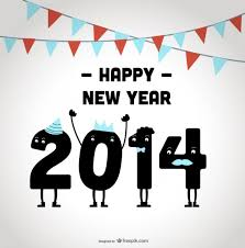 happy new year 2014. Plain New Happy New Year 2014 Celebrating Design Free Vector For W