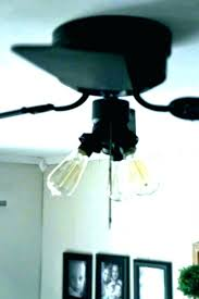 replace ceiling fan with light fixture the wires to the existing ceiling box and remove it