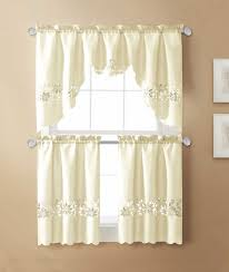 Jc Penneys Kitchen Curtains Fascinating Cream Jcpenney Kitchen Curtains Made Of Polyester