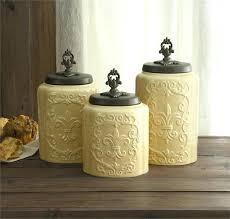 White Ceramic Decorative Accessories Unique Outstanding Canisters For Kitchen Kitchen Accessories Cream Carved