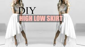 High Low Skirt Pattern Fascinating DIY HOW TO MAKE A HIGHLOW WATERFALL SKIRT YouTube