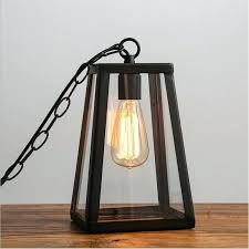 modern vintage industrial hanging glass box cage metal art pendant light all products wood