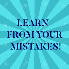 Word Writing Text Learn From Your Mistakes Business Concept