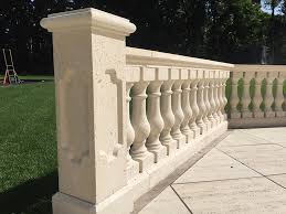 concrete barade porch railings
