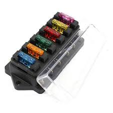 car 6 way circuit 6 3mm terminals standard blade fuse box holder mini fuse block terminals at Fuse Box Terminals
