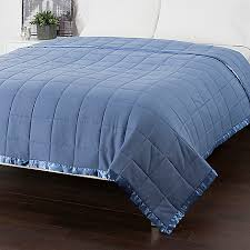 Cozelle® Down Alternative Satin Trimmed Quilted Blanket - EVINE