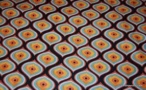 N110 Proud Peacock Feather Eye Graphic Orange and Black Pattern ... & N110 Proud Peacock Feather Eye Graphic Orange and Black Pattern cotton fabric  quilt fabric Adamdwight.com