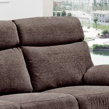Living Room Furniture Glasgow Glasgow Brown Chenille Fabric Recliner Collection With Fully