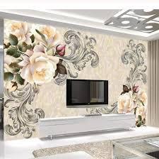 Flower Design Wallpaper 3d Amazon Com Yynight Photo Mural Wallpaper 3d Marble Flower