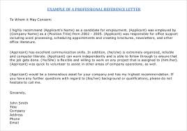 Letter Or Recommendation Format Format Of Letter Of Reference Image Collections Letter Format
