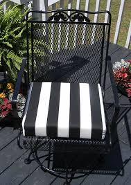 outdoor universal patio chair cushion black white stripe foam choose size ebay black patio chair cushions
