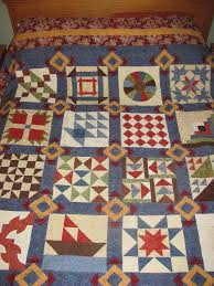 25 best images about My Quilts on Pinterest | Easy baby quilt ... & Underground Railroad 12 block sampler with Flying Geese Lattice. My second  quilt. Taught by Adamdwight.com