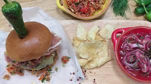 tom kerridge s pork and chorizo burger