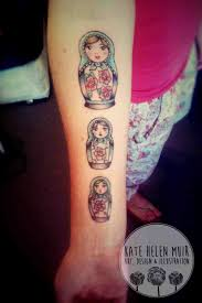 Russian Doll Arm Tattoo Katehelenmuir