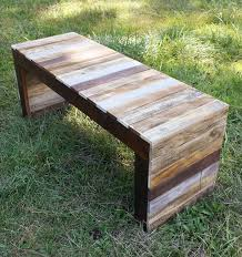 recycled pallet wood table or bench