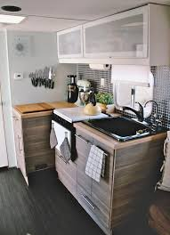 Camper Trailer Kitchen Designs Homes On Wheels 5 Travel Trailer Makeovers We Love Porch Advice